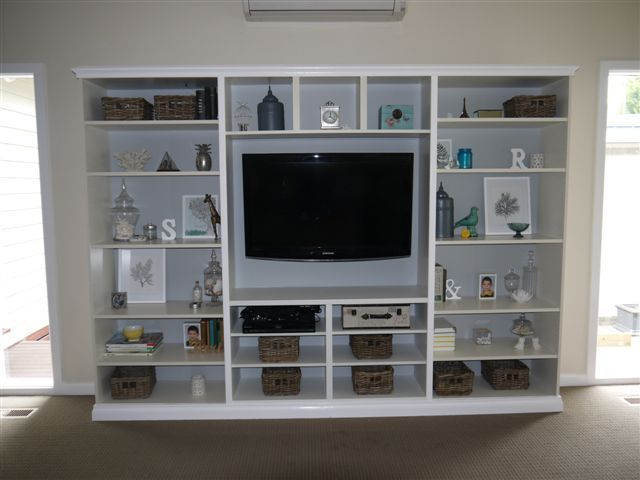 stacey used 2x 39 cm deep ikea billy book cases 1x ikea billy wall shelf and 1x ikea besta. Black Bedroom Furniture Sets. Home Design Ideas
