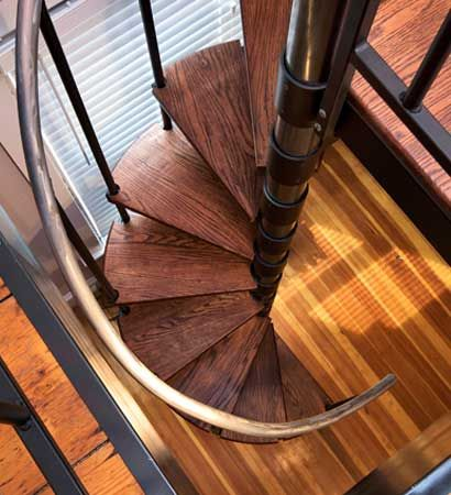 Best Spiral Staircase Kit The Steward Diy Steel With Red Oak 400 x 300