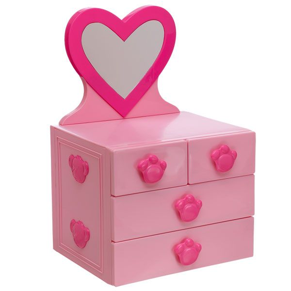Keep All Of Your Teddy Bears Stuffed Animal Clothes In One Place With This Bear Sized Pink Mirrored Dresser 4 Drawers From Build A