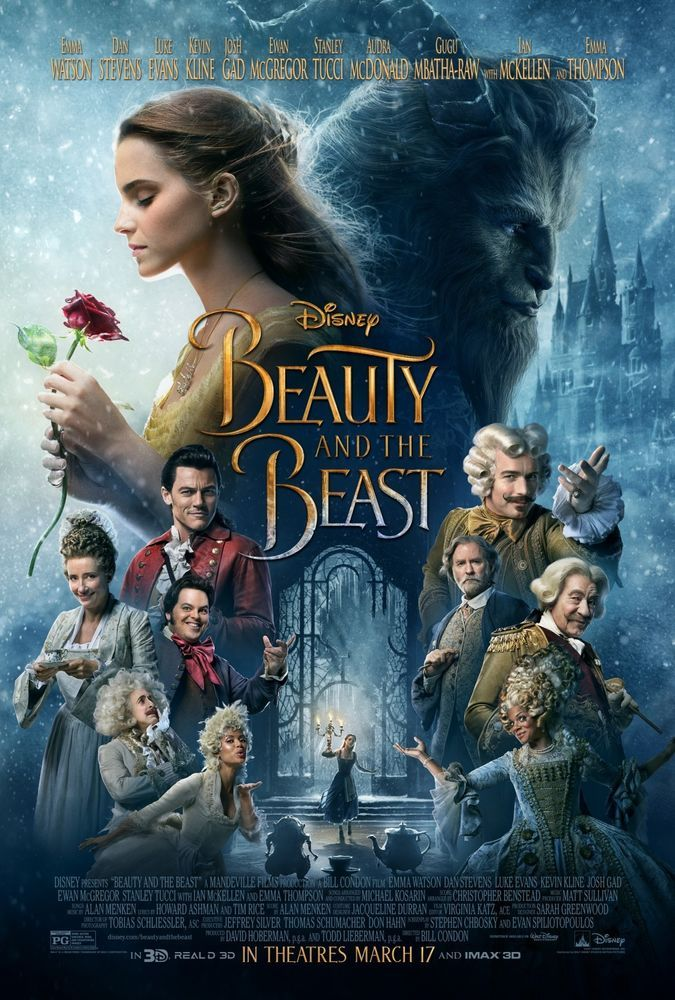 Details about Beauty and the Beast 2017 - 13x19 D/S Original Promo Movie Poster