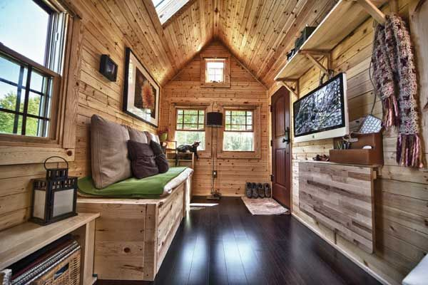 Space Saving Furniture Make Your House Feel Bigger Diy Mother Earth News Building A Container Home Container House Interior Container House