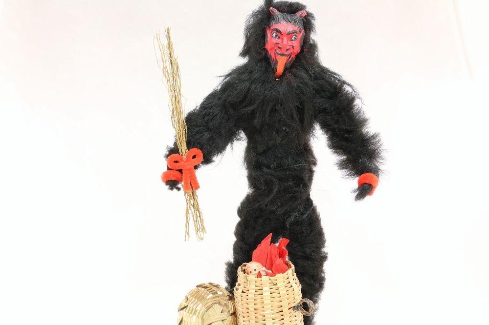 krampus with baby in basket 1890 s christmas saint nicholas demon large cnf stuff