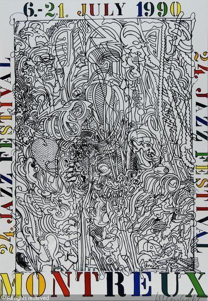 Plakat Montreux Jazz Festival sold by Germann Auktionen Zürich