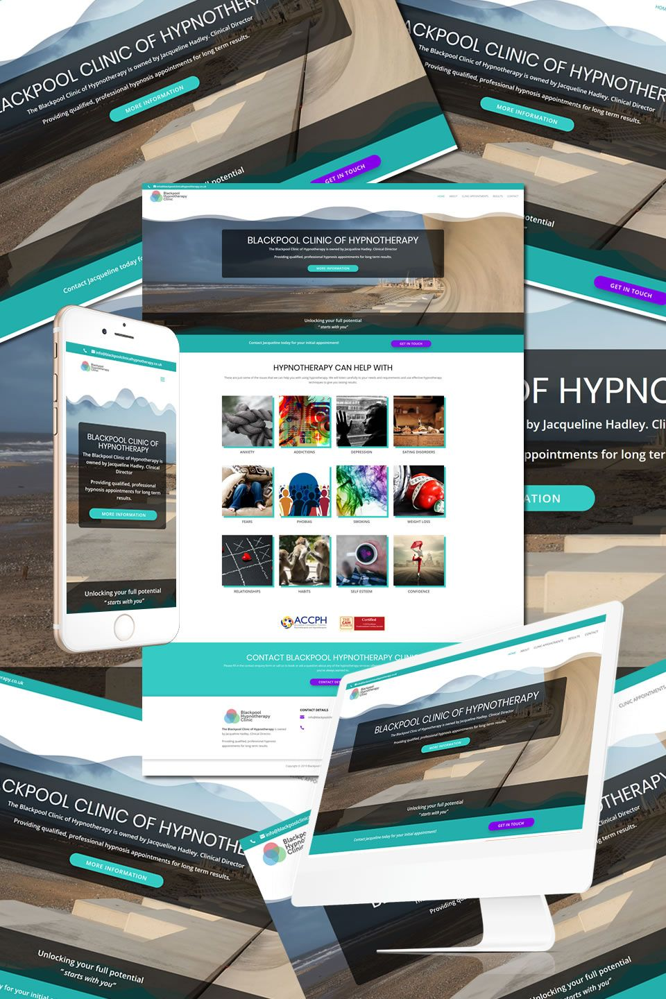The New Website Underway For Blackpool Clinic Of Hypnotherapy Https Hostcat Co Uk Project Blackpool Clinic Of Hypnotherapy Portfolio Web Design Web Design