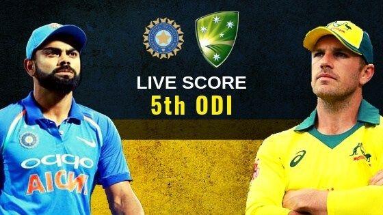 India Vs Australia 5th Odi >> India Vs Australia 5th Odi Live Score Australia Tour Of