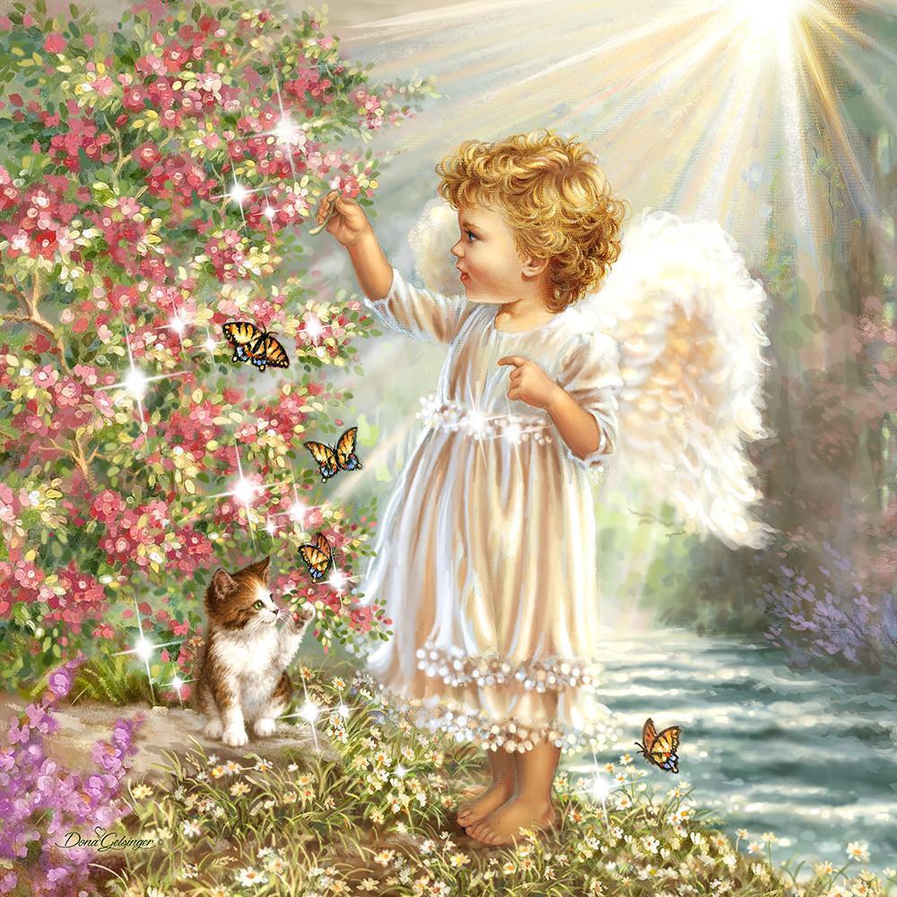 Открытки ангелов, красивые для девочек