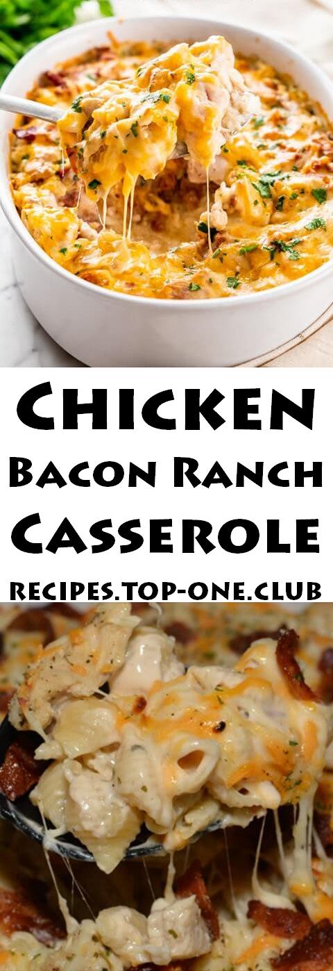 Chicken Bacon Ranch Casserole Recipe  This Chicken Bacon Ranch Casserole is all you need on a bustl