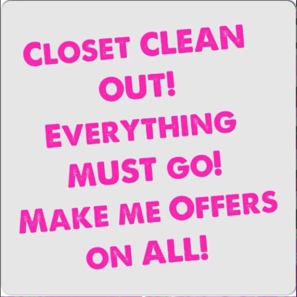 Closet Clean Out! Everything Must Go! Make Me An Offer!! Other
