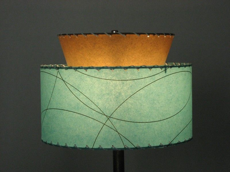 Mid Century Lamp Shades Fair Midcentury Lampshades Reproduction Lampshade  Atomic 2Tier Inspiration Design