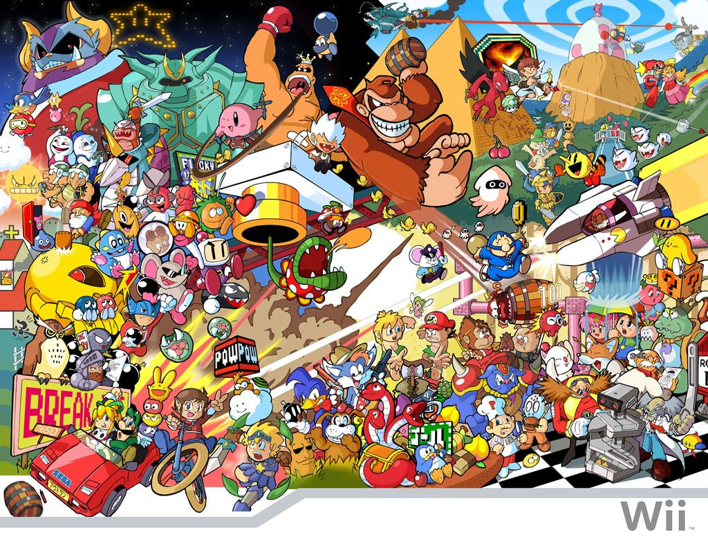 Virtual console collage mash up all the classic games