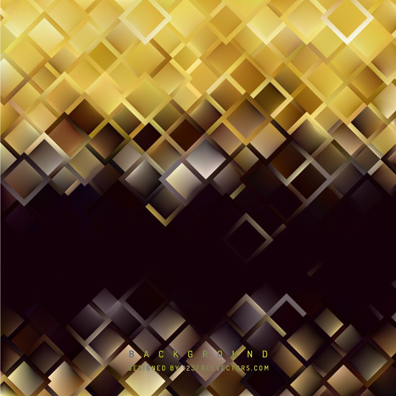 Abstract Black Gold Square Background in 2018 Deco