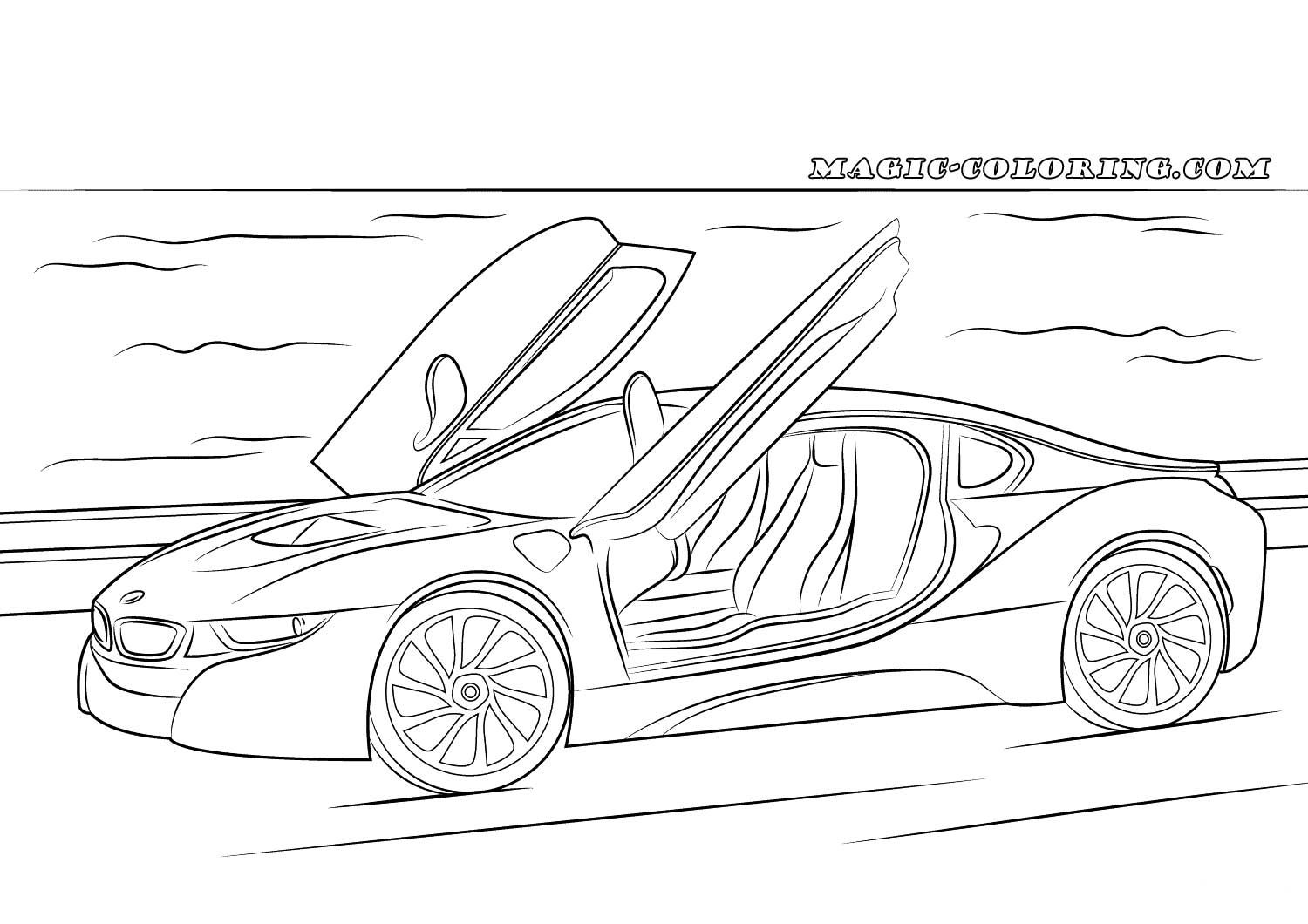 2015 Bmw I8 Coloring Page Cars Coloring Pages Disney Coloring Pages Mandala Coloring Pages