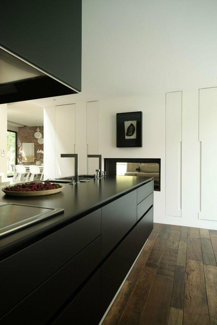 moderne küchen schwarze küchenschränke sind stilvoll und praktisch - küchen farben trend