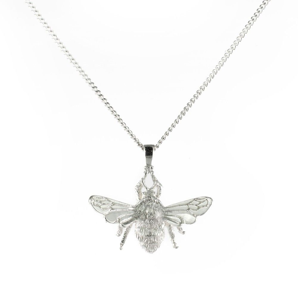 Silver bee pendant bees jewelry collection and pendants silver bee pendant aloadofball Choice Image