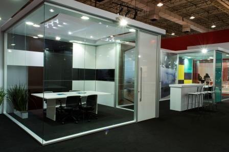 #15º Office Solution#Divisórias Interact - Acabamentos especial das paredes e portas da Nova Linha Cristallo Duratex