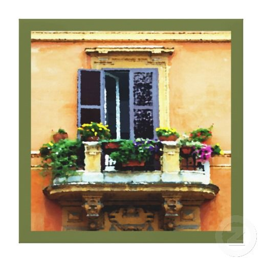 Balcony In Italy. Unique, Trendy, Fashionable, Decorative