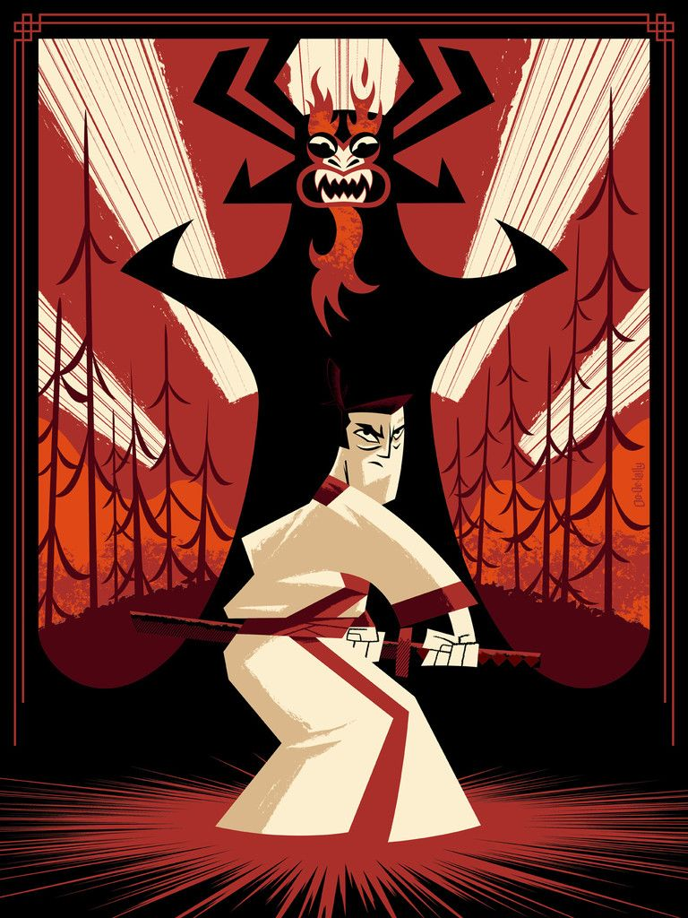 Samurai Jack - Jayson Weidel ---- http://www.herocomplexgallery.com/collections/red