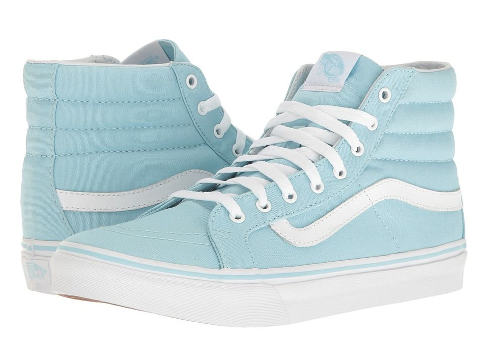 fd35a102a4 VANS VANS - SK8-HI SLIM (CRYSTAL BLUE TRUE WHITE) SKATE SHOES.  vans  shoes