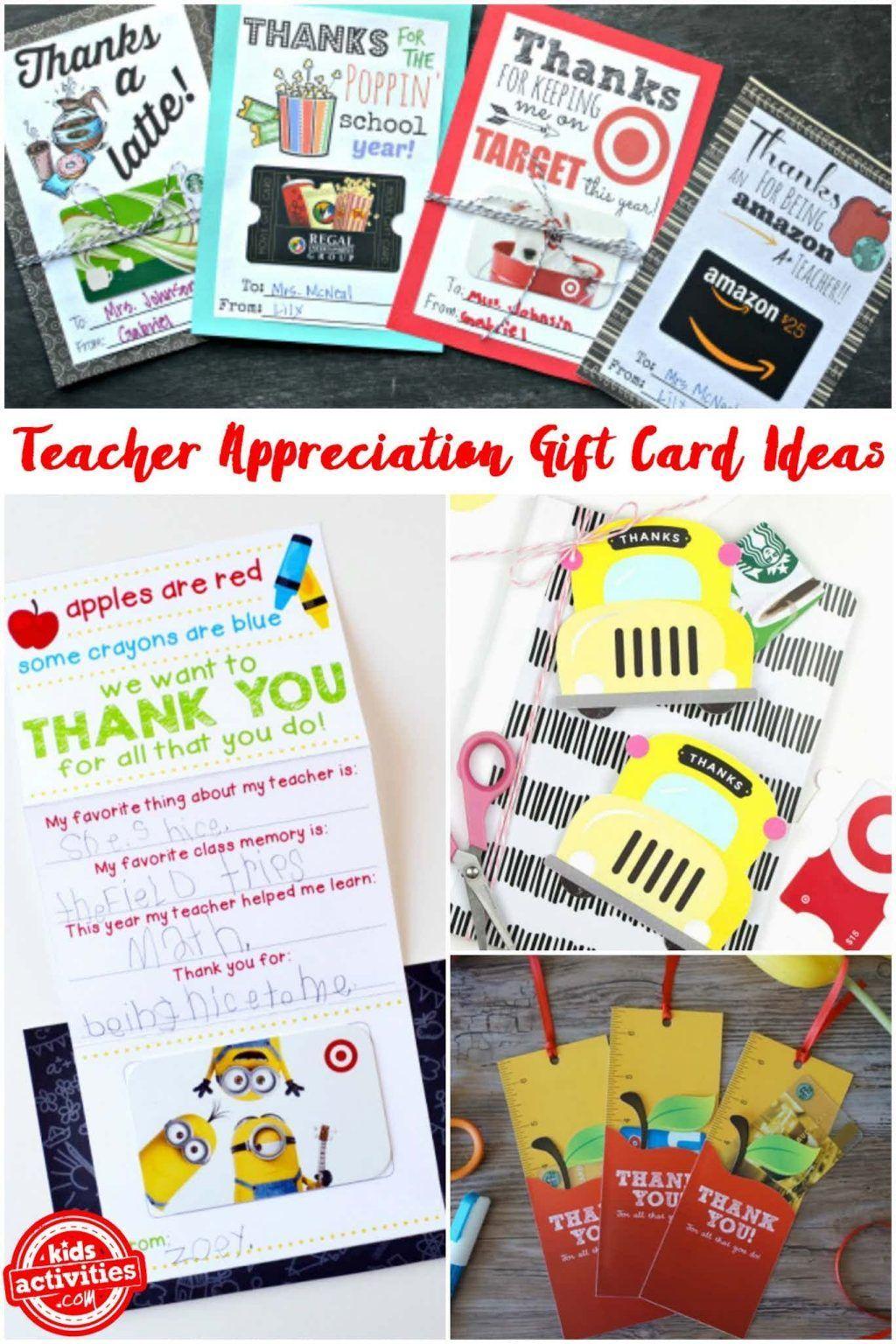 Teacher Appreciation T Card Holders You Can Print In
