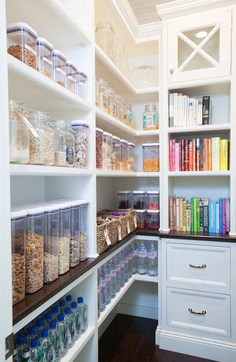 Pantry storage with center storage …
