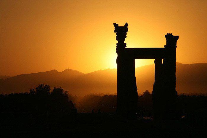 Persepolis Ruins - Gate of All Nations at Sunrise