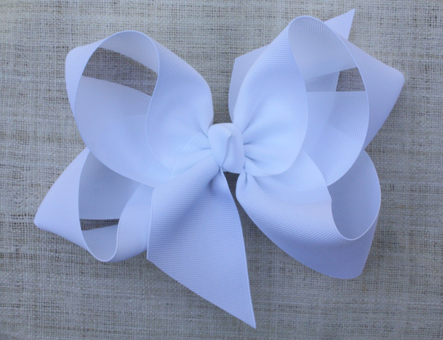 White Hair Bow-Girls Hair Bow-Girls bow-Hair Bow-Solid Color Hair Bow-Blissful Bows and Sews-Girl Birthday Gift-Back to School