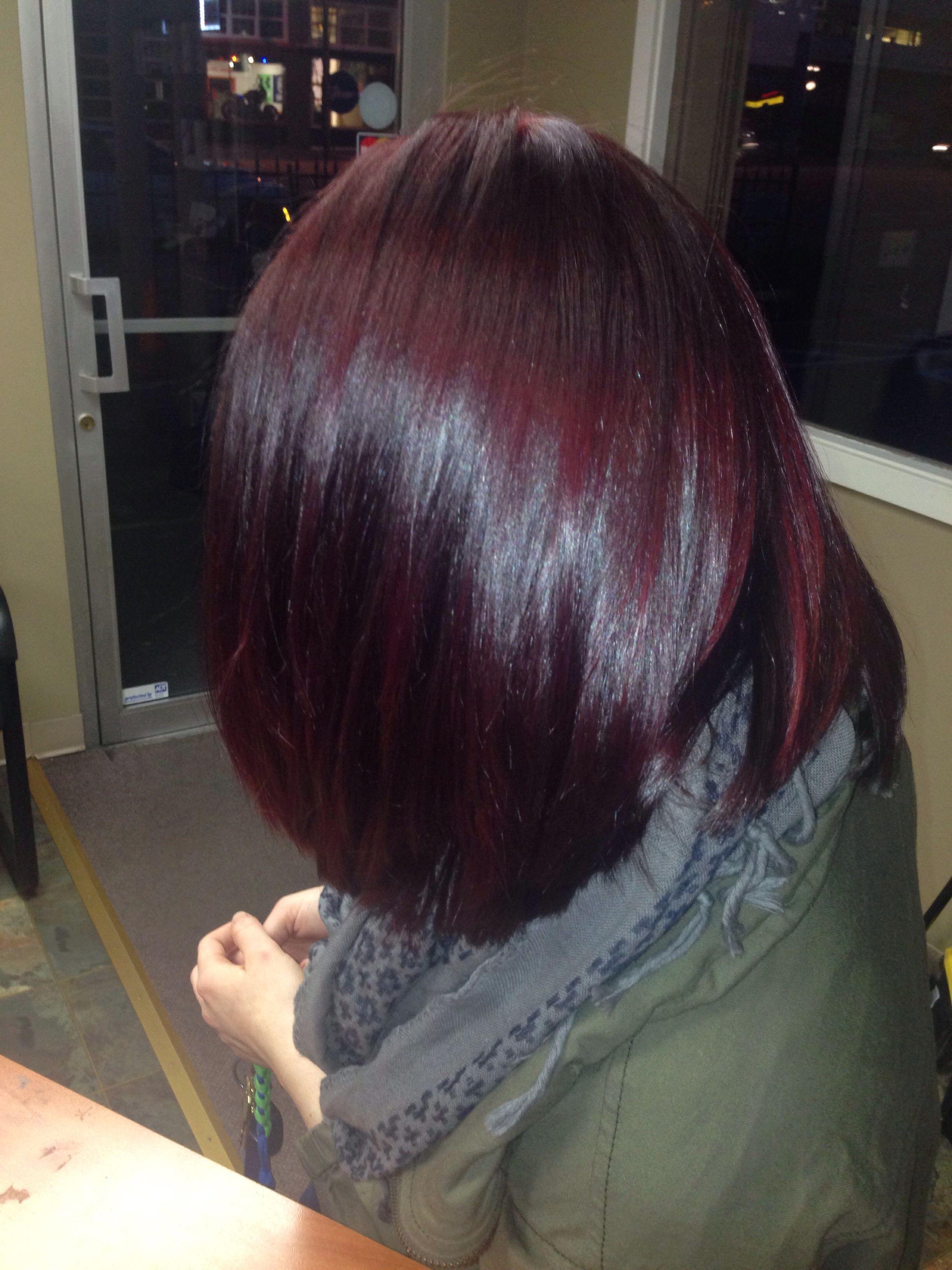 Color hair pinterest burgundy hair hairdressers and hair