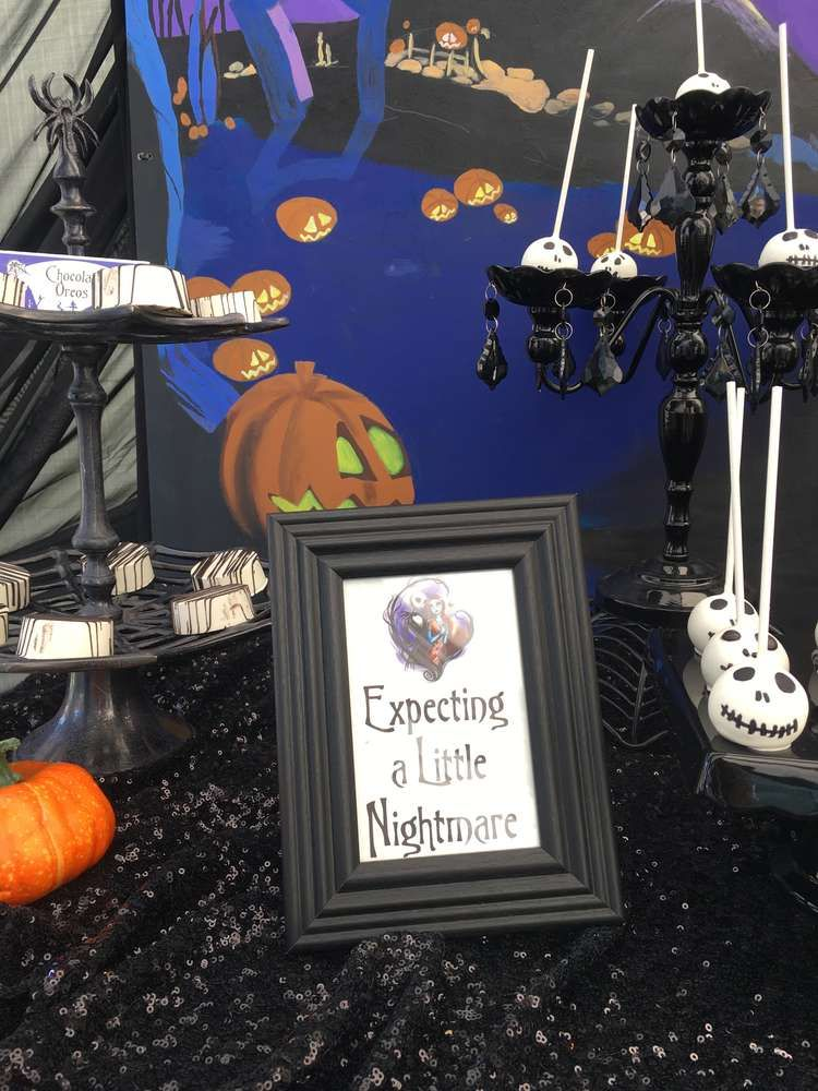 nightmare before christmas baby shower party ideas photo 2 of 12
