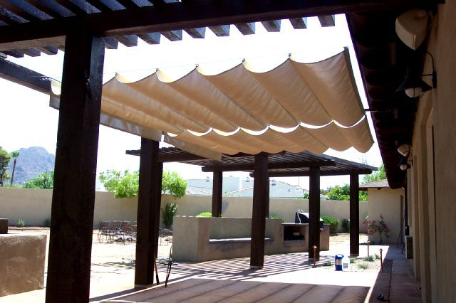 Lovely Retractable Sail Shade