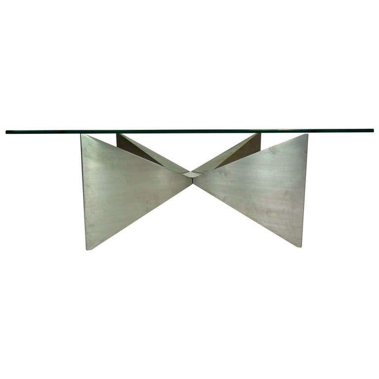 Maria Pergay - 1970s aluminum coffee table