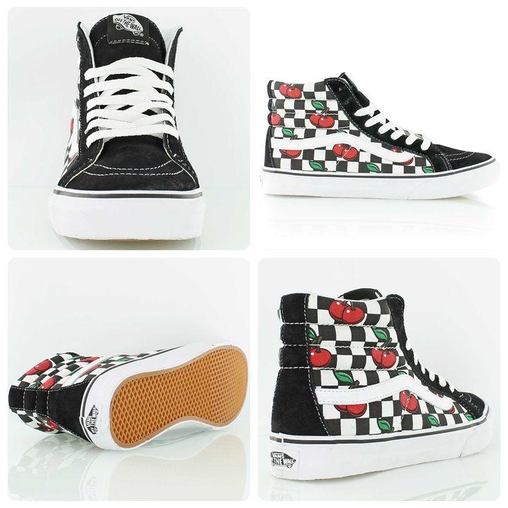 vans checkerboard old skool cherry