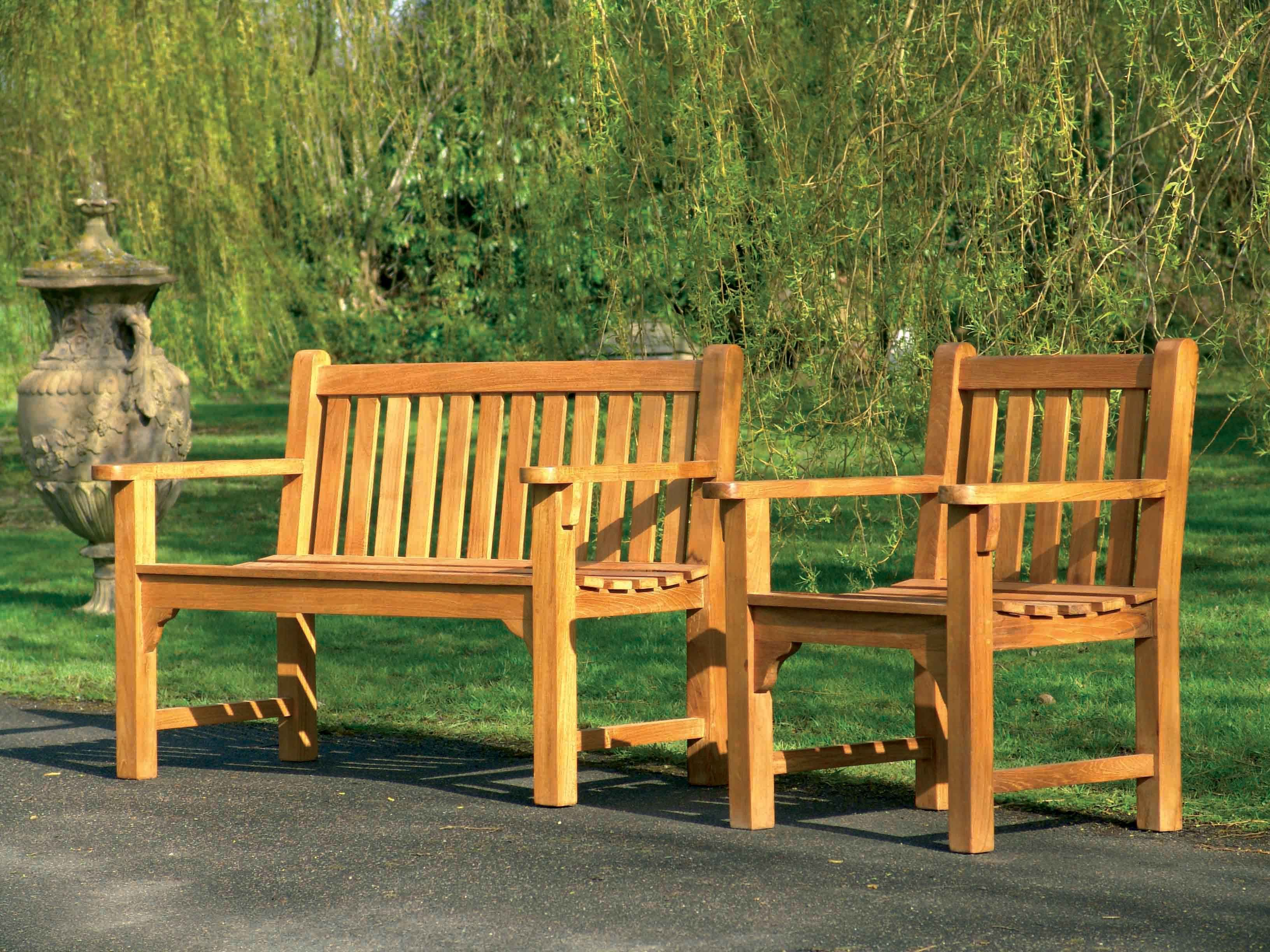 Our splendid looking heavy 3 person Farleigh Garden Bench is very