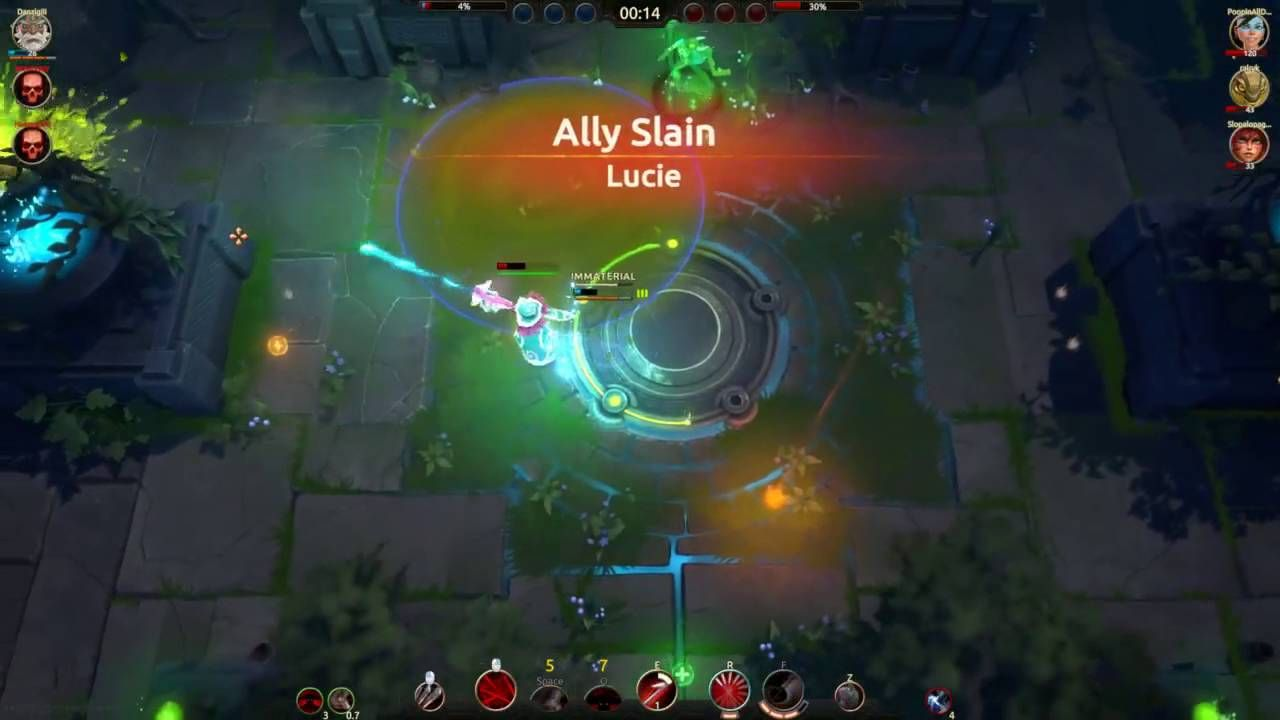 Battlerite had a huge update. Decided to start playing. I made what is probably the most clutch play possible.