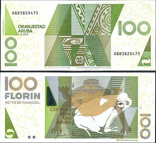 100 Gulden Aruba 2008 With Images