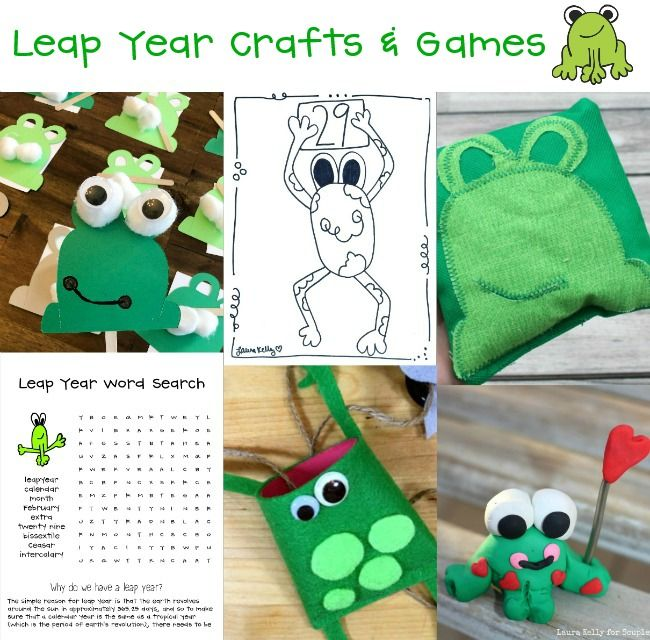 Leap Year Games and Craft Ideas for Kids #leapyear #crafts #games #kidcraft #leapday