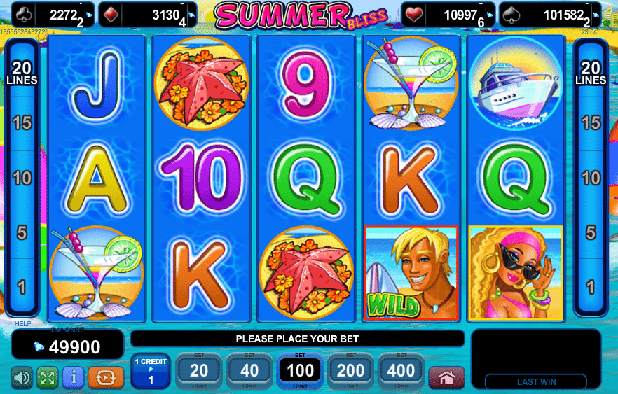 Summer Bliss - http://casinospiele-online.com/spielautomat-summer-bliss-online-kostenlos-spielen/