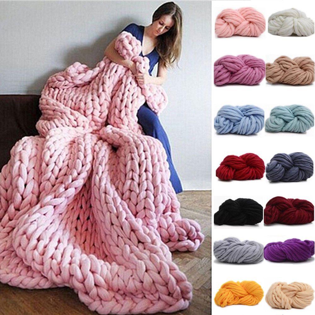 250g Super Bulky DIY Hand Knitting Blanket Hats Warm Giant