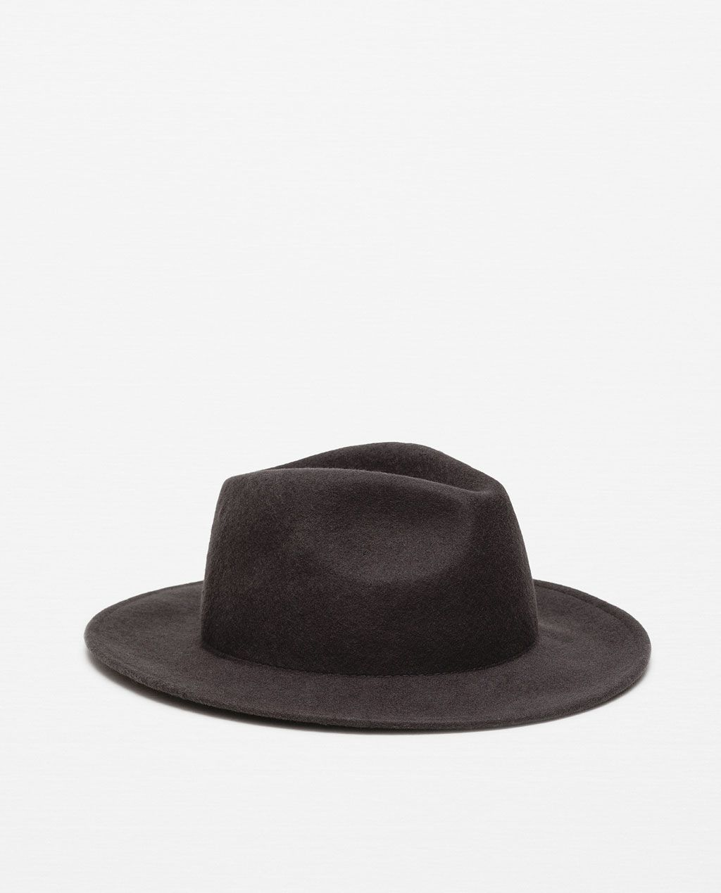 a7e5fb0143f46 Image 1 of WIDE BRIM FELT HAT from Zara