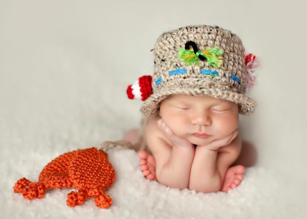 Crochet Fisherman Hat Newborn Phot Prop by MadhatterknitsCo on Etsy https://www.etsy.com/listing/220665272/crochet-fisherman-hat-newborn-phot-prop