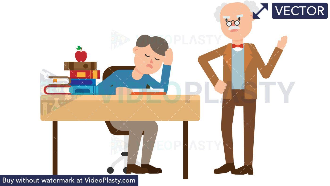 Professor Scolding a Student [VECTOR]