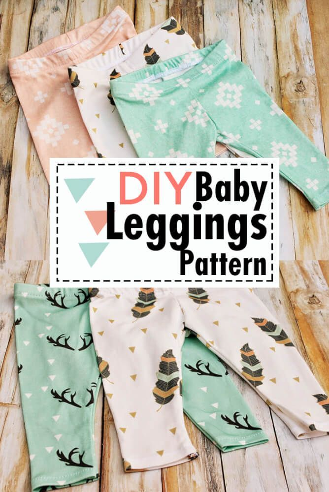 DIY Free Baby Leggings Pattern - Sewing DIY Christmas Baby Gifts #sewingprojects
