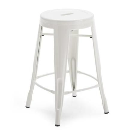 Awesome White Round Metal Bar Stools 2 Piece Pictures - New metal bar stools Modern