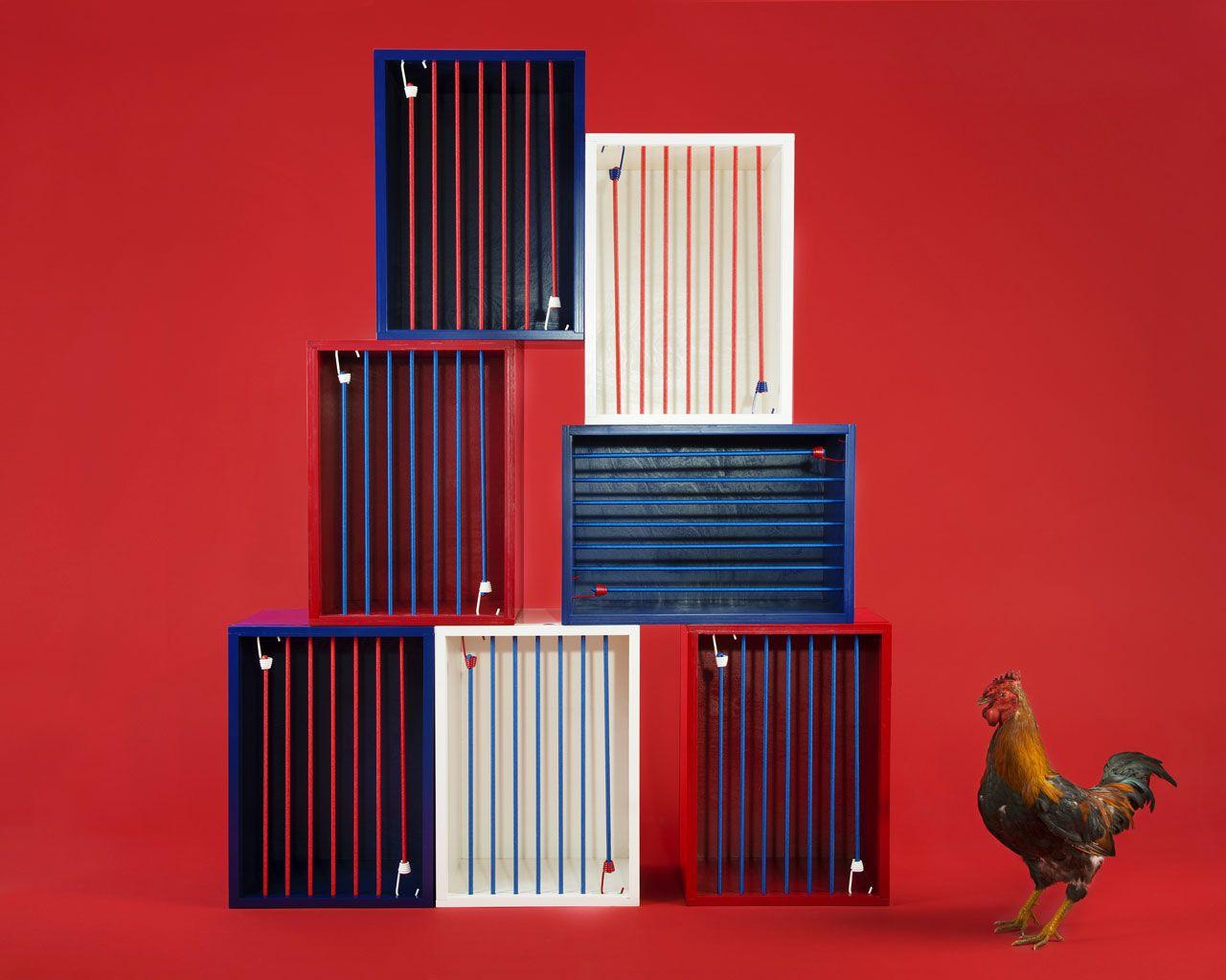 5.5 designstudio, Coq Cage. Photo 5.5 designstudio / C. Clier