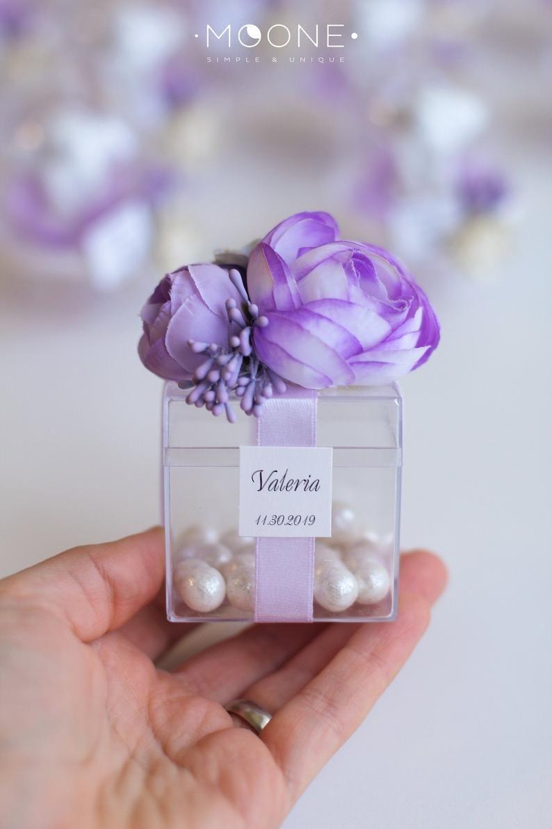 10pcs Wedding Favors For Guests In Bulk Lavender Wedding Bridal Shower Favors Candy Favor Boxes Birthday Favors Sweet 16 Baby Shower Wedding Favors For Guests Blush Wedding Favor Purple Wedding Favors