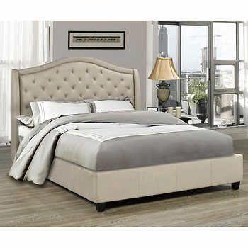 Milan Beige Bed Colores Living Recamara