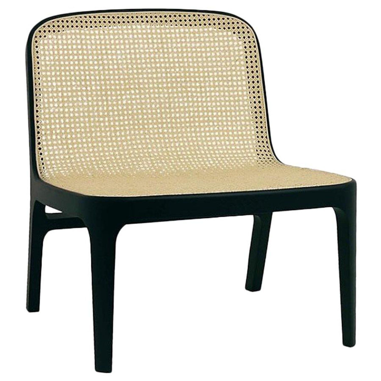 Fabian lounge chair contemporary french cane lounge chair