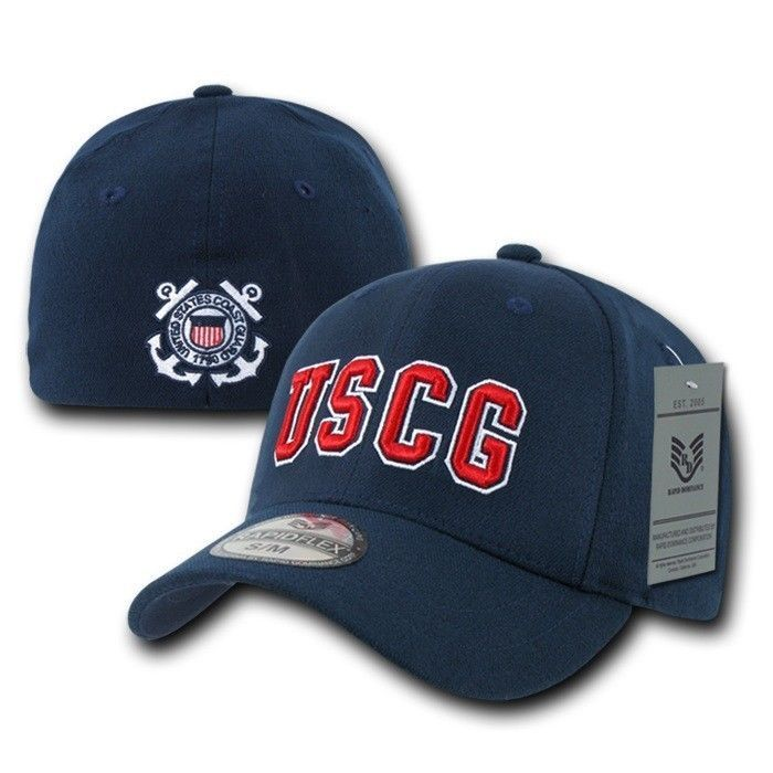 a787945cfe93c Blue United States Us Coast Guard Uscg Flex Baseball Fit Cap Caps Hat Hats  L Xl