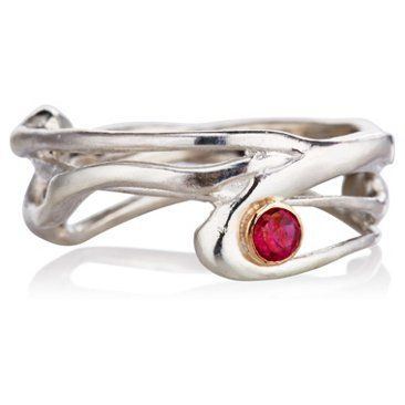 Check out this item at One Kings Lane! Seagrass Ring w/ Ruby, Sz 6