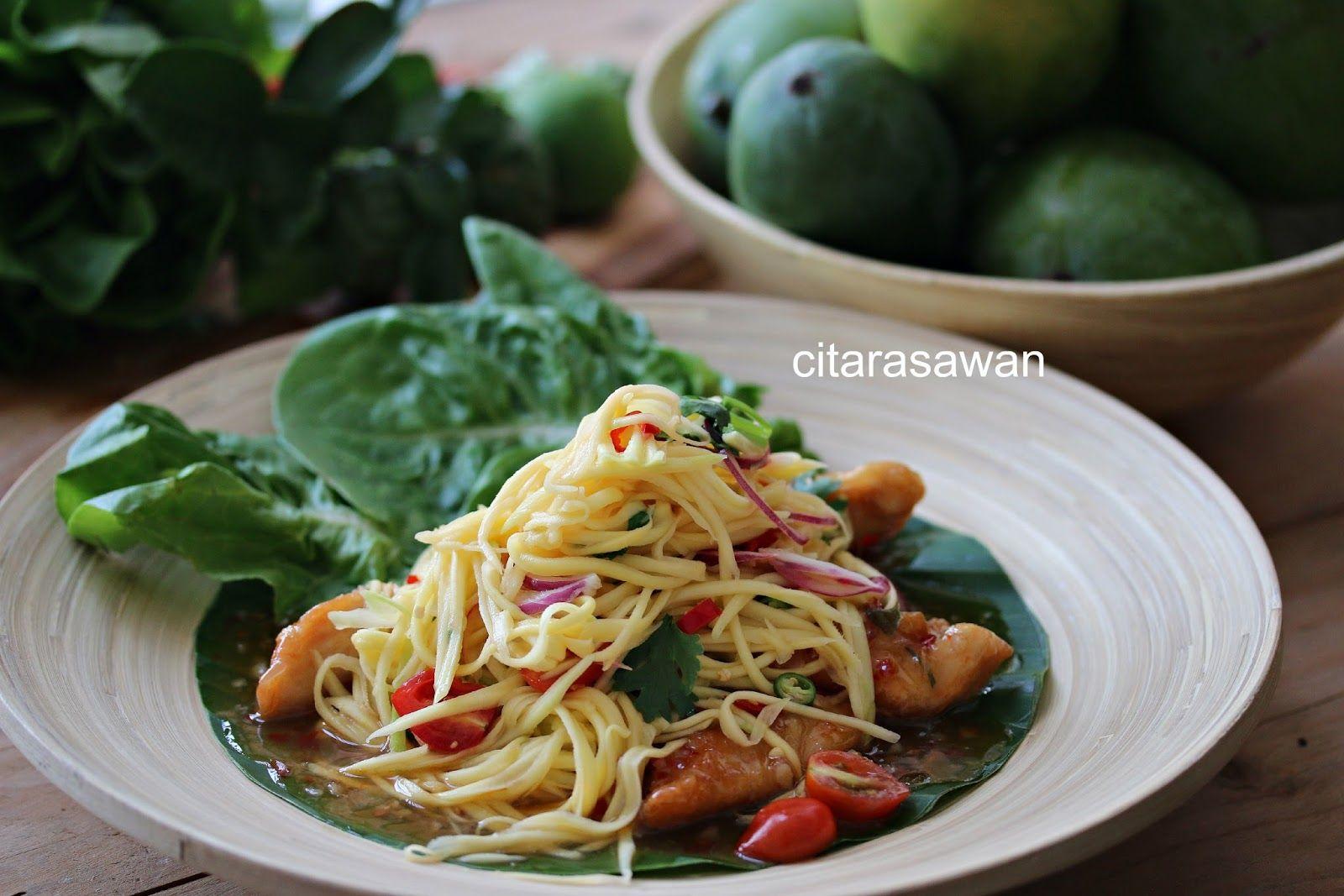Thai Mango Chicken Resep Masakan Asia Makanan Ayam