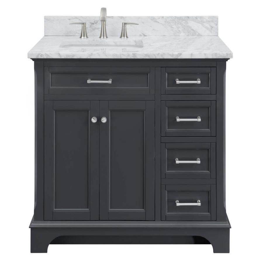 Scott Living Roveland 36 In Dark Gray Single Sink Bathroom Vanity